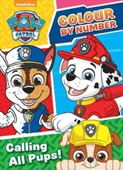 Paw Patrol Colour By Number | Paperback Book