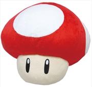Super Mario Bros Plush Super Mushroom Pillow 32cm