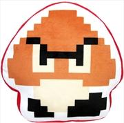 Super Mario Bros Plush Goomba 8 Bit Pillow