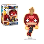 Captain Marvel - Captain Marvel Masked Flight Glow US Exclusive Pop! Vinyl [RS]