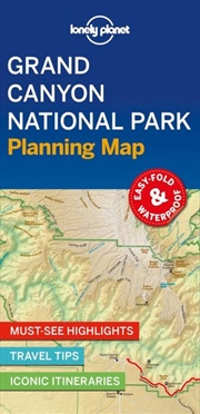 Lonely Planet Travel Guide - 1st Edition Grand Canyon National Park Planning Map