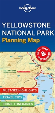 Lonely Planet Travel Guide - 1st Edition Yellowstone And Grand Teton Planning Map | Sheet Map