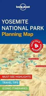 Lonely Planet Travel Guide - 1st Edition Yosemite National Park Planning Map