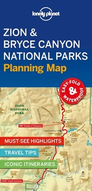 Lonely Planet Travel Guide - 1st Edition Zion & Bryce Canyon National Parks Planning Map