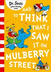 And To Think That I Saw It On Mulberry Street | Paperback Book