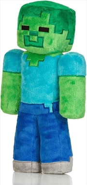 "Minecraft 12"" Zombie Plush with Hang Tag"
