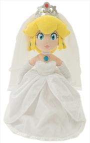 """Super Mario Bros Plush Peach Bride 16"""""""