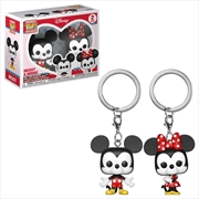 Disney - Mickey & Minnie Pocket Pop! Keychain 2-pack