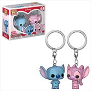Lilo & Stitch - Stitch & Angel Pocket Pop! Keychain 2-pack | Pop Vinyl