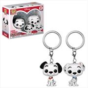 101 Dalmatians - Pongo & Purdita Pocket Pop! Keychain 2-pack