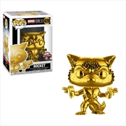 Marvel Studios 10th Anniversary - Rocket Gold Chrome Pop! Vinyl