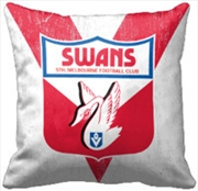 AFL Cushion 1st Team Logo Sydney Swans | Homewares