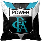 AFL Cushion 1st Team Logo Port Adelaide Power | Homewares