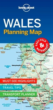 Lonely Planet Wales Planning Map | Sheet Map