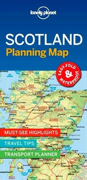 Lonely Planet Scotland Planning Map | Sheet Map