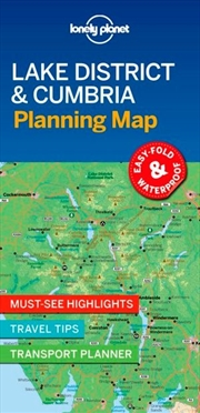 Lonely Planet Lake District & Cumbria Planning Map | Sheet Map