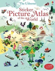 Sticker Picture Atlas of the World | Paperback Book