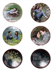 Twilight - Pin Set of 6 Style E Edward & Bella
