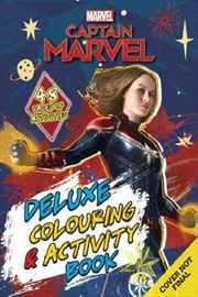 Marvel: Captain Marvel Deluxe Colouring and Activity Book | Paperback Book