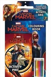 Marvel: Captain Marvel Activity Bag | Paperback Book