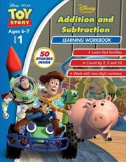 Disney Toy Story: Addition and Subtraction Learning Workbook Level 1 | Paperback Book