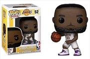 NBA: Lakers - Lebron James (White Uniform) Pop! | Pop Vinyl