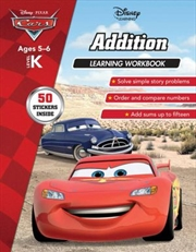 Disney Cars: Addition Learning Workbook Level K | Paperback Book