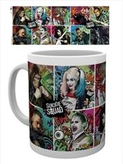 DC Comics Suicide Squad Compilation Mug