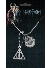 Harry Potter Crest and Hallows Dog Tags