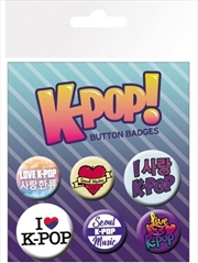 K-Pop Mix Badge Pack