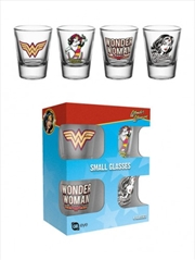 DC Comics Wonder Woman 60s Pop Shot Glasses