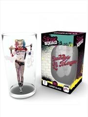 DC Comics Suicide Squad Faces Large Glass | Merchandise