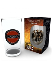 Supernatural Logo Large Glass