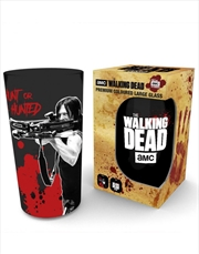 Walking Dead Daryl Coloured Large Glass