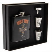 Guns N Roses Cross Hip Flask Set | Merchandise