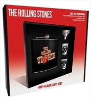 Rolling Stones Tongues Hip Flask Set