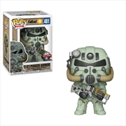 Fallout 76 - T-51 Power Amor (Green) US Exclusive Pop! Vinyl [RS] | Pop Vinyl