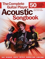 Complete Guitar Player Acoustic Songbook   Paperback Book