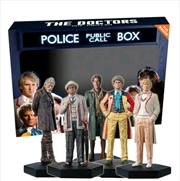 Doctor Who - Doctors Five, Six, Seven, Eight & War Regeneration 1:21 Scale Figure Set | Merchandise
