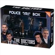 Doctor Who - Doctors Nine, Ten, Eleven and Twelve Regeneration 1:21 Scale Figure Set | Merchandise