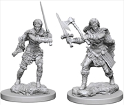 Dungeons & Dragons - Nolzur's Marvelous Unpainted Minis: Human Female Barbarian | Games