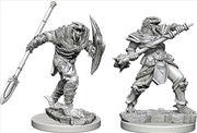 Dungeons & Dragons - Nolzur's Marvelous Unpainted Minis: Dragonborn Male Fighter with Spear | Games