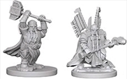 Dungeons & Dragons - Nolzur's Marvelous Unpainted Minis: Dwarf Male Paladin | Games