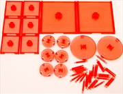 Dungeons & Dragons - Attack Wing Base & Pegs Set Red | Games