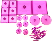 Dungeons & Dragons - Attack Wing Base & Pegs Set Purple | Games