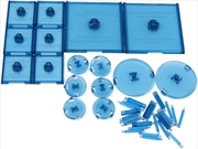 Dungeons & Dragons - Attack Wing Base & Pegs Set Blue | Games