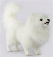 Pomeranian Dog White 46cm L | Toy