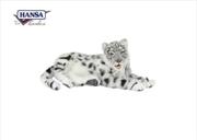 Snow Leopard Jacquard Lying 66cm L | Toy
