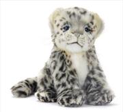 Snow Leopard Cub Sitting 18cm | Toy