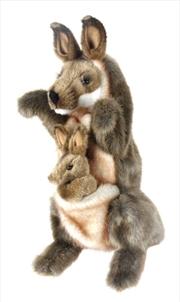 Kangaroo And Joey Puppet 29cm   Toy